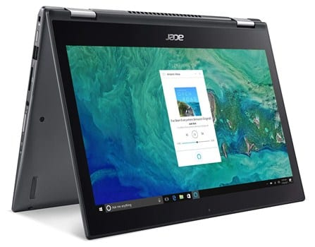 Acer Spin 5 SP513-52N-52PL - cheapest laptop for djing