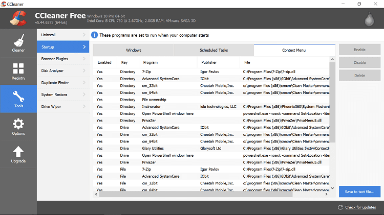 cleaning a pc with ccleaner